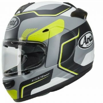 Arai Axces 3 Sense Motorcycle Motorbike Sports Helmet - Fluo Yellow